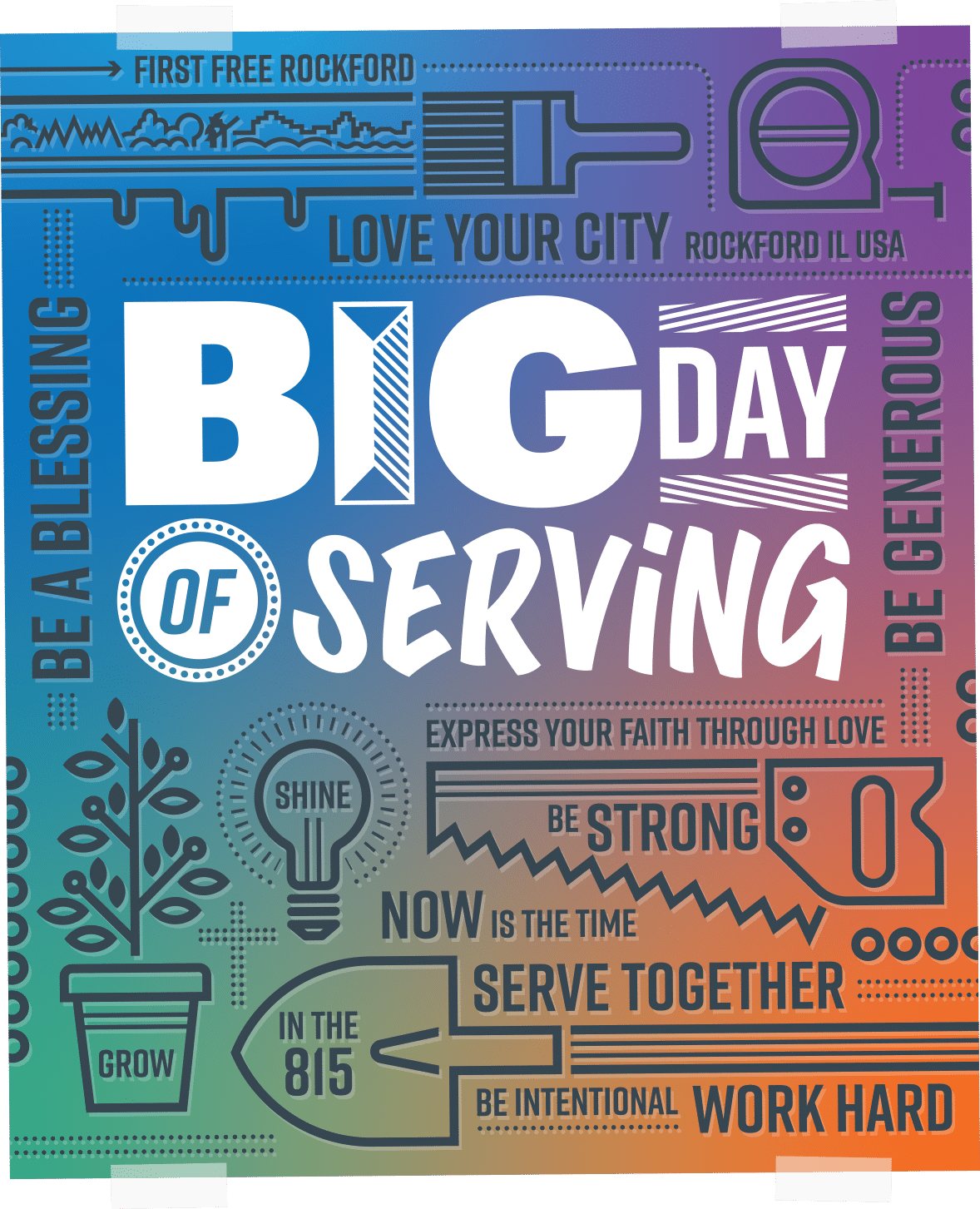 Big Day of Serving Poster